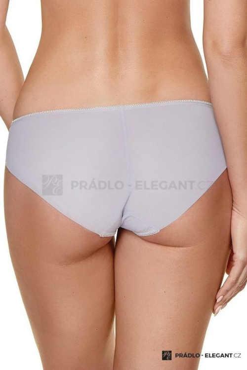 šedé klasické kalhotky s krajkou