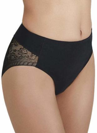 Černé stahující kalhotky s krajkovým zadním dílem
