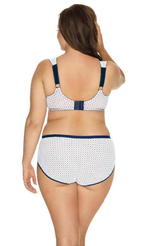 modro-bílé puntíkaté dámské kalhotky