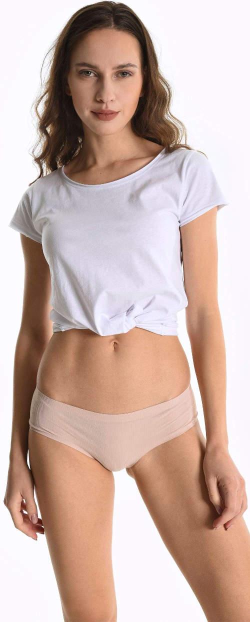 Bezešvé spodní kalhotky v tělové barvě